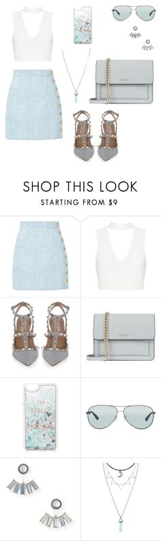 """Casual summer look"" by dr3amd0ll on Polyvore featuring mode, Balmain, Valentino, DKNY, Charlotte Russe, Ray-Ban en Aéropostale"