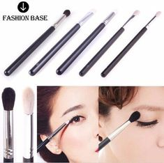 Fashion Base 4 PCS Different Styles Goat Hair Professional Makeup Brushes Set Powder Foundation Eyeshadow Brushe Blending Brush Set >>> You can find out more details at the link of the image. (This is an affiliate link) #MakeupToolsandAccessories