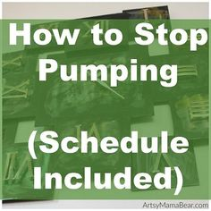 I pumped exclusively for the first 5 months of my son's life. I wish I had found a detailed schedule on how to stop pumping. Here's mine, enjoy! Pumping And Breastfeeding Schedule, Breastfeeding Bottles, Pumping Schedule, Stopping Breastfeeding, Breastfeeding And Pumping, Care During Pregnancy, Post Pregnancy, Dry Up Breastmilk, Exclusively Pumping