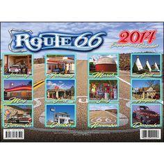 Route 66 2014 Wall Calendar | Classic Car | CALENDARS.COM