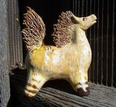 Golden Horse by Dragonware on Etsy, $30.00