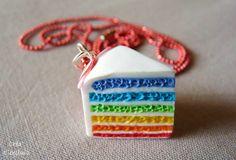 Gateau multicolore