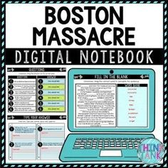 Cure student boredom with this Boston Massacre Digital Interactive Notebook – Choice Board. This is a Google Slides™ resource so sharing with your students is a cinch. Grab 8 pre-made digital graphic organizers that students type their answers into. You can assign all tasks at once or have students choose a few each day. Perfect for the teacher who is looking for engaging, no-prep resources! Topics include: Boston Massacre, Sons of Liberty, Paul Revere, Propaganda #digitalnotebook Social Studies Activities, History Activities, Science Activities, Classroom Activities, Dust Bowl, Google Classroom Download, Middle School History, High School, Upper Elementary Resources