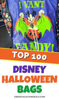 Our list of the best Disney themed Halloween bags. Great for use in Disney World or Disneyland or trick-or-treating. Themed to Disney characters Mickey Mouse, Minnie, Goofy, Pluto, Tigger, Sanderson Sisters, Jack Skellington, Sally, Baby Yoda, Leia, Cinderella, Belle, Loki, Thor, Buzz Lightyear, Donald Duck, Stitch, Olaf, Elsa, Ariel, Boba Fett, Groot, etc. #NightmareBeforeChristmas #HocusPocus #StarWars #TheMandalorian #ToyStory #WDW #Frozen #WinniethePooh #GotG #Avengers #BlackPanther… Groot Halloween Costume, Yoda Halloween, Minnie Mouse Halloween, Halloween Treat Bags, Disney Halloween, Cute Halloween, Mickey Mouse, The Little Mermaid Halloween, Sleeping Beauty Halloween