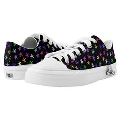 Colorful Black Jacks Printed Shoes