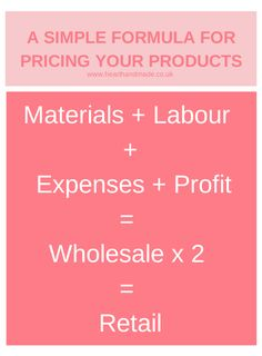 A Simple Formula for Pricing etsy products Top 10 Tips for Starting an Etsy Business