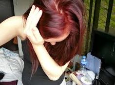 Afbeeldingsresultaat voor uitgroei bij donker rood haar