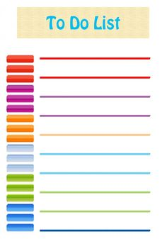 free cute and colorful to do list printable organization lists organisation