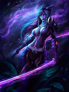 Vivacia by Solaice on DeviantArt Fantasy Female Warrior, Fantasy Demon, Dark Fantasy Art, Female Art, Warcraft Art, World Of Warcraft, Fantasy Art Women, Fantasy Girl, Fantasy Artwork