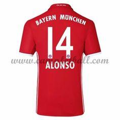 Bayern Munich Fotballdrakter 2016-17 Alonso 14 Hjemmedrakt