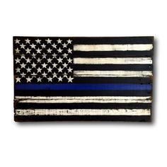 Thin Blue Line American Flag/ Police Officer Gift by PalletsandPaint on Etsy https://www.etsy.com/listing/253626370/thin-blue-line-american-flag-police