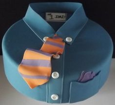 New cake for men dads fathers day Ideas Cakes For Men, Just Cakes, Unique Cakes, Creative Cakes, Fondant Cakes, Cupcake Cakes, Bolo Chanel, Dad Cake, Shirt Cake
