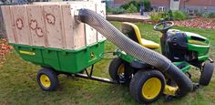Homemade Lawn Vacuum Cart