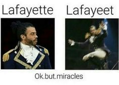 Everyone give it up for America's favorite fighting Frenchman, Layfayeet! Musical Hamilton, Hamilton Broadway, Really Funny Memes, Stupid Funny Memes, Haikyuu, Hamilton Fanart, Hamilton Lin Manuel Miranda, Donald Trump, Fandoms