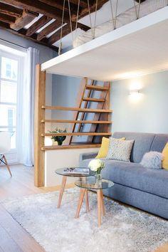 Un style scandinave modernise le séjour du studio