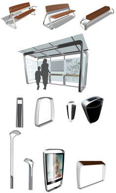 Metro40 Street Furniture by BMW Group DesignworksUSA » CONTEMPORIST