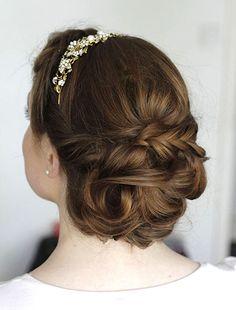 Beautiful Brides | Gallery Bridal hair Loose bun  Braid