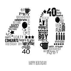 Leading Illustration & Publishing Agency based in London, New York & Marbella. 40th Birthday Images, Happy Birthday Cheers, 40th Birthday Wishes, 40th Bday Ideas, 40th Birthday Quotes, 40th Birthday Decorations, Forty Birthday, 40th Birthday Parties, Man Birthday