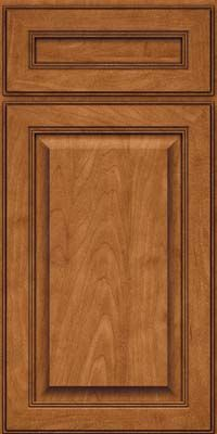 Door Detail - Square Raised Panel - Solid (LCM) Maple in Praline w/Onyx Glaze - KraftMaid Cabinetry