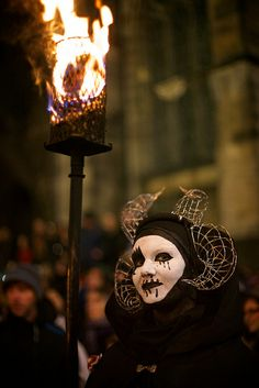 Edinburgh, Scotland You can plan a festival viewing, hike up a volcano or visit some of the haunted attractions around the city. I would bring an extra pair of pants for this one. Samhuinn 2013 Stage Area & Battle by Beltane Fire Society, via Flickr