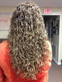 Spiral Perm On Long Hair Cosmetology Pinterest Hair