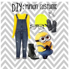 DIY: minion costume but with yellow tulle skirt