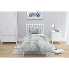 online shopping for Degraffenreid Duvet Cover Set Wrought Studio from top store. See new offer for Degraffenreid Duvet Cover Set Wrought Studio Green Duvet Covers, Duvet Cover Sets, Blue Duvet, Single Duvet Cover, Bed Linen Sets, Contemporary Bedroom, Bed Furniture, Studio, Clean Lines