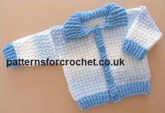 Free baby crochet patterns Ribbed Cardigan USA
