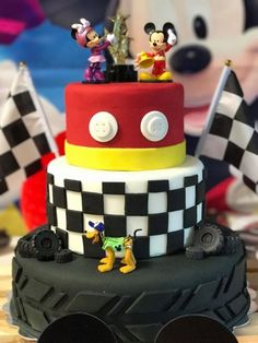 Mickey Mouse Roadsters Race Cake