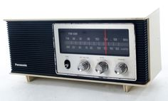 Vintage Panasonic Radio  Description:  1970's Funky Modern Design Am/FM Radio made by: Panasonic