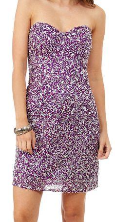 PRIMA Glitz GX1324 Silk Beaded Cocktail Dress in Purple or Turquoise