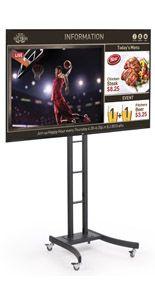 SuperSign TV w/ Media Player, Content Software & Adjustable Stand - Silver Digital Signage System, Digital Signage Displays, Standing Mirror, Software, Content, Entertaining, Tv, Silver, Black