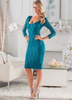 Sequin detail lace dress in the VENUS Line of Dresses for Women