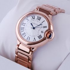 Cartier Ballon Bleu 33 mm in rose gold