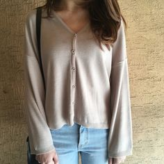 Slouchy V-Neck Cardigan   mixxmix   Shop Korean fashion casual style clothing, bag, shoes, acc and jewelry for all