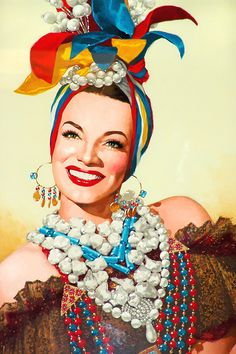 Carmen Miranda portrait - Celebrity art and pin-up art by Benicio del Toro http://humanismoyconectividad.wordpress.com/2010/11/19/pin-ups-de-benicio/