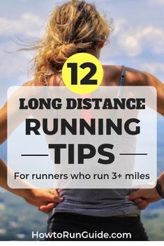 Running more than 3 miles at a time? Then you need these 12 long distance running tips! Learn how to be a stronger, healthier runner and keep your sanity during long runs (it's easier than you think! 5k Running Tips, Long Distance Running Tips, Running On Treadmill, Running For Beginners, How To Start Running, Running Motivation, Running Workouts, Running Training, Trail Running