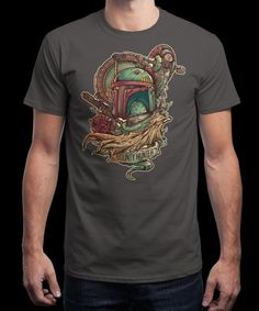 """""""Bounty Hunter"""" is today's £8/€10/$12 tee for 24 hours only on www.Qwertee.com Pin this for a chance to win a FREE TEE this weekend. Follow us on pinterest.com/qwertee for a second! Thanks:)"""