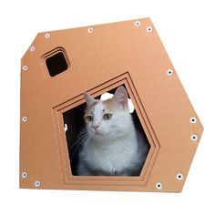 SoHo Cardboard Cat House,Cat Furniture,Cat Toy,Cat Bed,Cat Cave,Pet House,Cardboard Furniture by CacaoFurniture on Etsy https://www.etsy.com/listing/238866167/soho-cardboard-cat-housecat-furniturecat