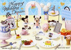 ディズニー「ミッキー&ミニー ハッピーウェディングドリーム」 Disney Mickey&Minnie Happy Wedding Dream Re-ment #rement #re-ment #disney #minnie #mickey #miniatures