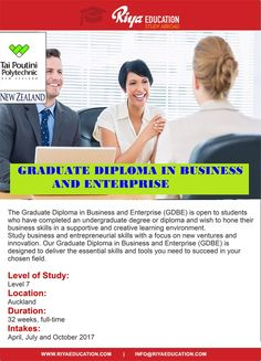 Study Graduate Diploma in Business and Enterprise from Tai Poutini Polytechnic , NZ. Visit our website for contact details. #New Zealand