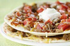 Individual Ground Beef Taco Pizzas - I will need to convert this one to gluten free