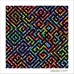 #colorfy #colorfyapp #quilt #rainbow #maze #coloring #adultcoloring #mobileapp #googleplay #relaxing Graph Paper Art, Cross Stitch Hoop, Cross Stitch Patterns, Pixel Art, Graph Paper Journal, Bargello Patterns, Crochet Square Blanket, Pixel Drawing, Fantasy Art