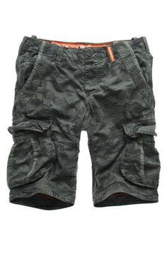 Superdry Shorts | Grey Camo