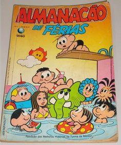 O almanacão de férias da turma da Mônica.