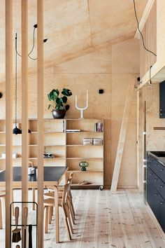Plywood House, Plywood Walls, Tiny House Cabin, Tiny House Design, Wood Interiors, Cottage Interiors, Plywood Design, Plywood Interior, Wooden Architecture