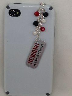 Nurse Cellphone Charm. Iphone charm, dust plug charm, headphone plug charm, iPad charm, phone assessories. on Etsy, $9.00