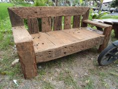 old rail wood bench - Bali Souced.com and Bali  Sourced on Facebook, like us to see more...