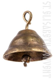 Brass bell, catalog of St Elisabeth Convent: forged cross. #forged #cross #brass #bell #handmade #unique #craft