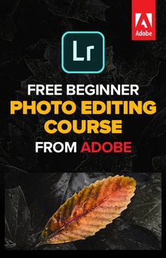 Free Lightroom CC Beginner Photo Editing Course on Adobe's website